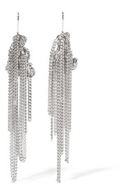 Knotted Chain silver-tone earrings