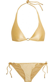 Calvin Klein Beachwear Icons metallic triangle bikini