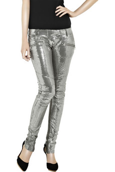 Balmain Zipped%20paillette%20skinny%20pants
