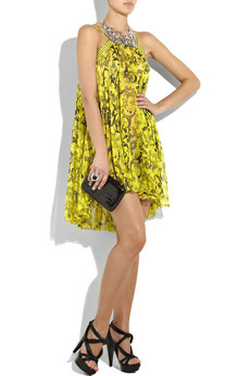 Versace Borocco print silk dress