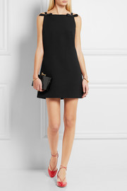 Miu Miu Bow-embellished cady mini dress
