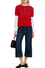 Miu Miu Pointelle-knit cashmere sweater