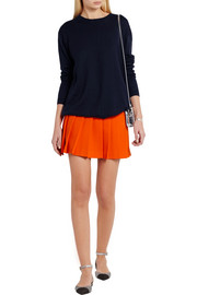 Miu Miu Split-back bow-embellished wool sweater