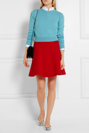 Miu Miu Wool-crepe mini skirt