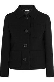 Wool-crepe jacket