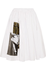 Appliquéd vinyl skirt