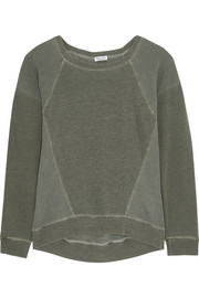 Splendid Mesa paneled cotton-terry sweatshirt