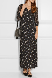 Anna Sui Printed fil coupé and crepe maxi dress