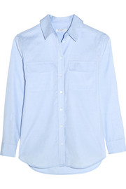 Equipment Signature cotton-chambray shirt