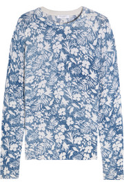 Sloane floral-print cashmere sweater