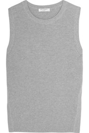 Bay ribbed cotton and cashmere-blend tank