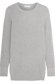 Rei ribbed cotton and cashmere-blend sweater