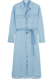 Equipment Delaney cotton-chambray shirt dress