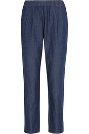 Hadley cotton-chambray tapered pants