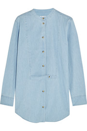 Mandel cotton-chambray shirt
