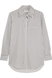 Daddy striped cotton-poplin shirt