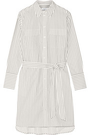 Delany striped cotton-poplin shirt dress