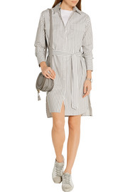 Equipment Delany striped cotton-poplin shirt dress