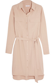 Delany washed-silk shirt dress