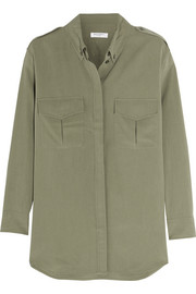 Major washed-silk shirt