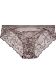 Infuse stretch-lace and tulle briefs