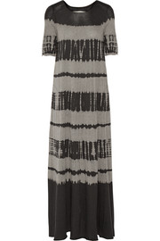 Tie-dyed cotton-blend jersey maxi dress