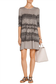 Raquel Allegra Tie-dyed cotton-blend jersey mini dress