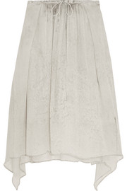 Printed silk-georgette skirt