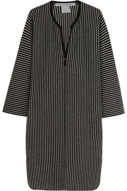 Striped merino wool and cashmere-blend dress