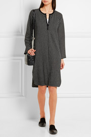 Raquel Allegra Striped merino wool and cashmere-blend dress