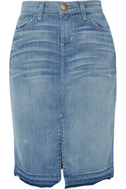The High Waist stretch-denim pencil skirt