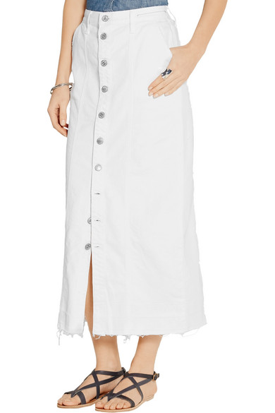 Current/Elliott | Denim midi skirt | NET-A-PORTER.COM