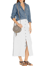 Current/Elliott Denim midi skirt