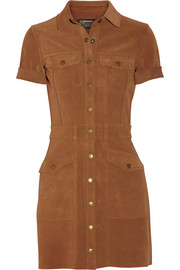 The Trucker suede mini shirt dress