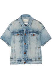Current/Elliott The Rolled Sleeve Trucker denim jacket