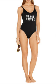 Surf Club printed swimsuit
