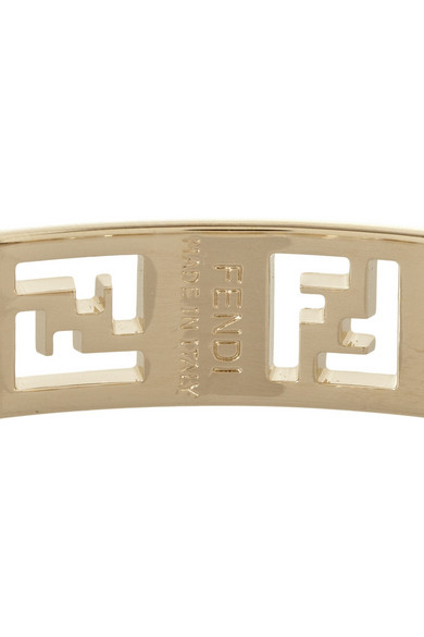 Fendi metal logo bracelet net a porter com for Net a porter logo