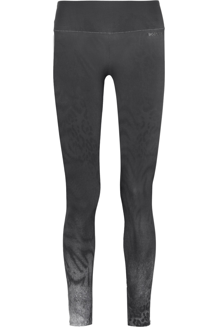 Bodyism I Am Fierce Printed Stretch-Jersey Leggings, Anthracite, Women's