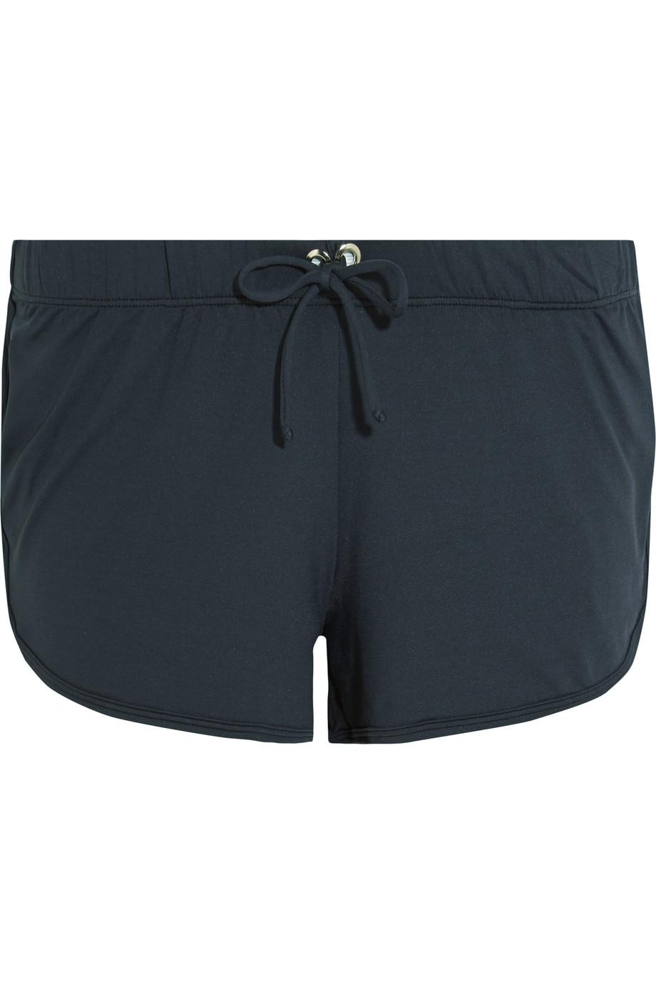Bodyism Abi Stretch-Jersey Shorts, Black, Women's