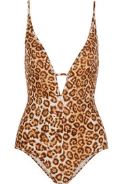 Alchemy cutout leopard-print swimsuit