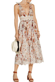 Zimmermann Alchemy crochet-paneled broderie anglaise cotton dress