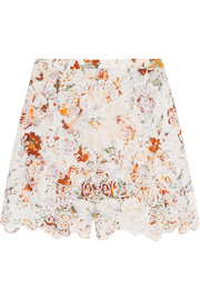 Alchemy broderie anglaise cotton shorts