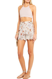 Zimmermann Alchemy broderie anglaise cotton shorts