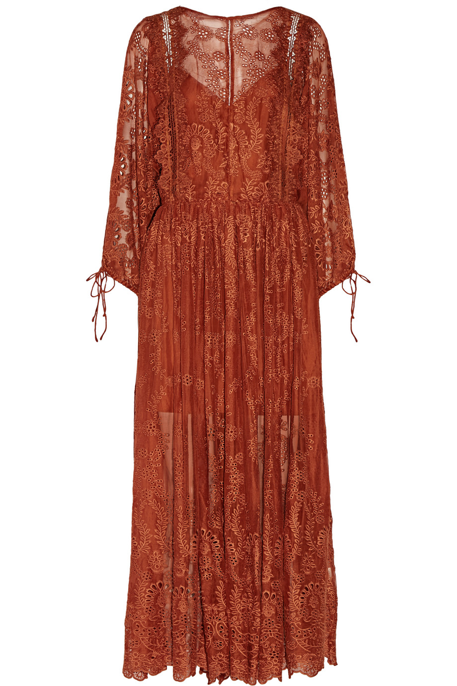 Zimmermann Alchemy Broderie Anglaise Silk-Georgette Dress, Orange, Women's, Size: 2