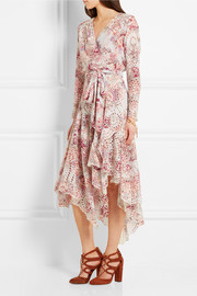 Zimmermann Epoque printed broderie anglaise cotton dress