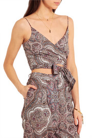 Zimmermann Epoque paisley-print cotton-voile wrap top