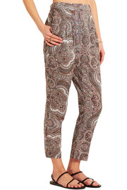 Zimmermann Epoque paisley-print cotton-voile tapered pants