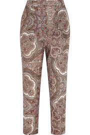 Epoque paisley-print cotton-voile tapered pants