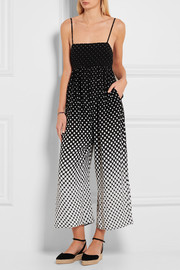 Zimmermann Lotte polka-dot chiffon jumpsuit