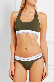 Modern Cotton stretch cotton-blend thong
